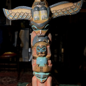 Totem Pole - Made in Alaska by ?? - Native American