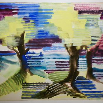Kady Faulkner watercolor - WPA affiliated artist - Fine Art