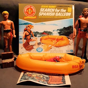 Steve Scout Search for the Spanish Galleon With Box 1974 by Kenner - Sporting Goods