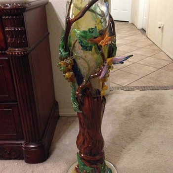 1950's-60's Handblown glass vase
