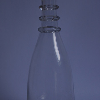A Tapered Triple Ring Carafe - Art Glass