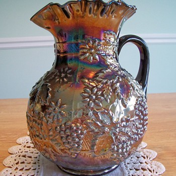 Floral & Grape Pitcher - Dugan - Amethyst