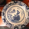 "Huge 16"" Blue And White Chinese Charger / Unknown Age And Maker"