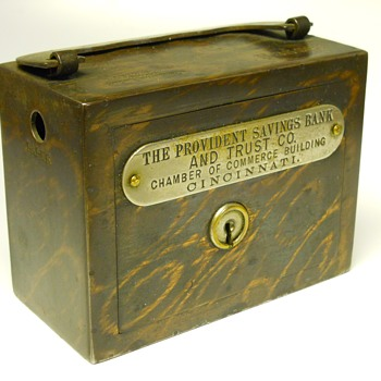 "Promotional Advertising Steel Bank""The Provident Savings Bank & Trust Co, Cincinnati, Circa 1895 - Coin Operated"