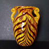 Chinese handled pulled feather spatter vase