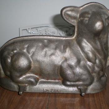 Old Cast Iron and Cast Aluminum Lamb Cake Pans - Kitchen