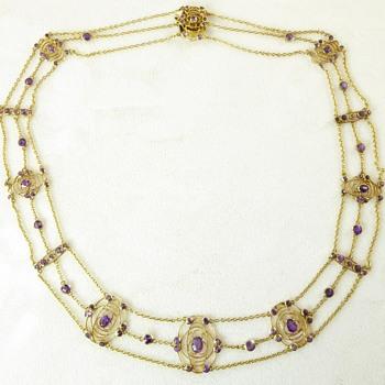 Art Nouveau Necklace (?Liberty ?Glasgow School) - Art Nouveau