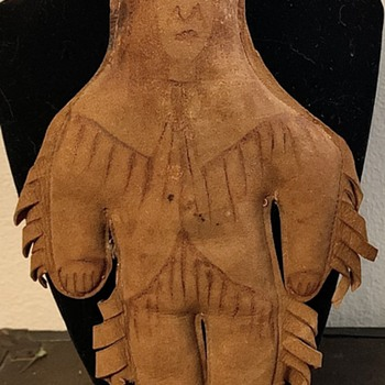 Antique Sioux Native American Leather Doll - Dolls