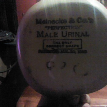 1908 Meinecke & Co's  male urinal ..This belonged to my Grandfather..