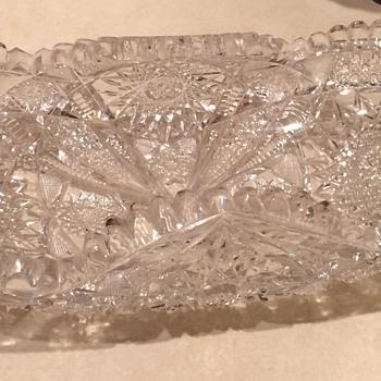 Cut Glass Bowl - Glassware
