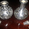 Stirling silver Glass Perfume Bottles.