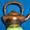 Gorham antique copper teapot/rosewood burl handle, 1881