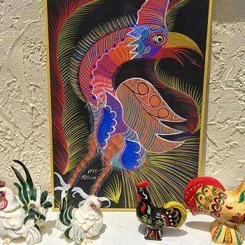 Chico Da Silva Brazilian Artist Signed Atomic Rooster 1975 - Fine Art