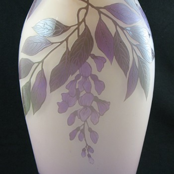 """Art"" Cameo Glass Vase ... French?  Bohemian? - Art Glass"