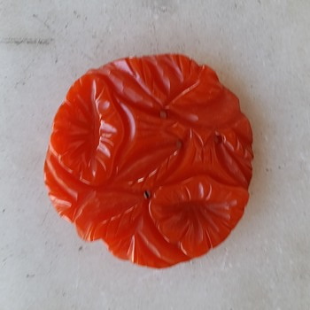 Finally - a bright orange bakelite pin! - Costume Jewelry