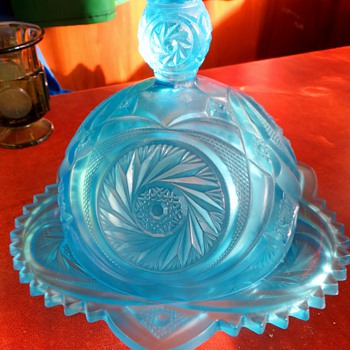 does anyone know approximate age and name of this beautiful domed butter? - Glassware