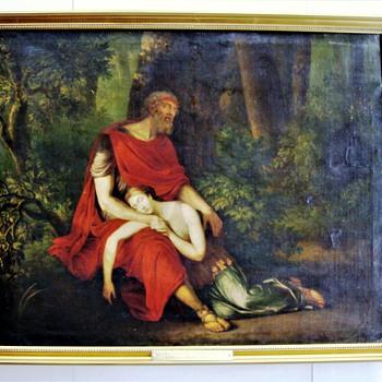 "M.I.V. Brée (1773-1839):  ""Oedipus and Antigone at Colonus"". 1797.  - Fine Art"
