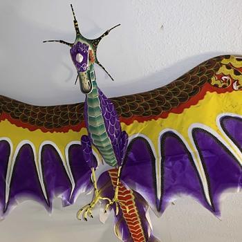 Vintage Chinese Dragon Kite - Asian