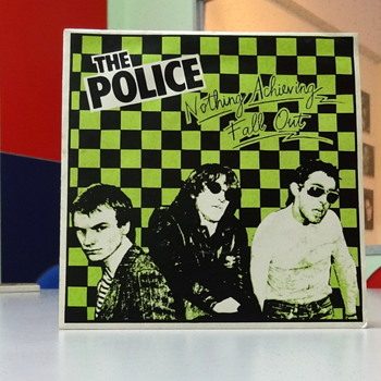 The Police's first UK single - Fall Out on Illegal Records.  - Records