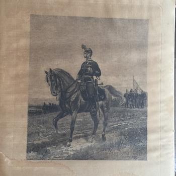 Edouard Detaille Framed Art work on cloth, Unknown True age. Estate Find - Fine Art