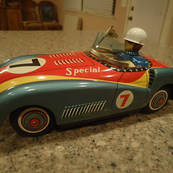 vintage toy tin car