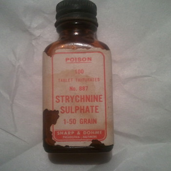 Strychnine Sulphate Bottle - Advertising