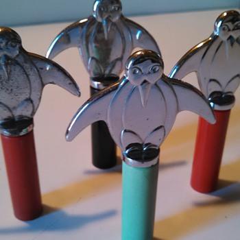 Art Deco Penguin Corkscrews - Art Deco
