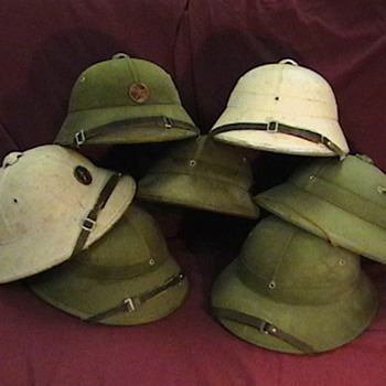 North Vietnamese Army and Navy Helmets