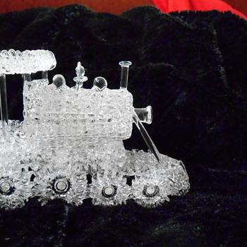 Spun Glass Locomotive Engine