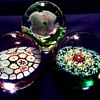 """Three Glass Paperweights / 2 With Original Murano """"Fratelli Toso"""" Foil Labels 1 Unknown / Circa 1950-60"""