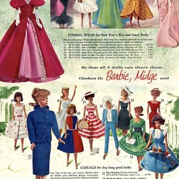 Vintage Barbie Doll Fashions Ad - Dolls