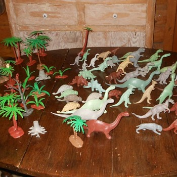 My Entire Marx Dinosaur Herd - Animals