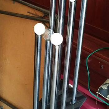 Vintage Chrome And Lucite Floor Lamp - Lamps