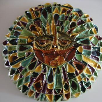 large pottery sun - Pottery
