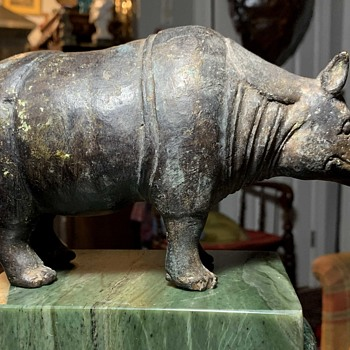 Old Brass Rhinoceros - Animals