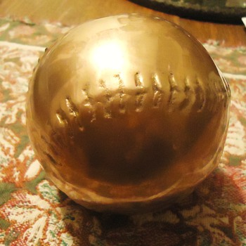 Baseball Brass with Japanese Signature? - Baseball