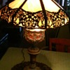 Royal or Noble Family Commissioned? 1800's Victorian Argand Oil Slag Glass Lamp Converted To Electric?