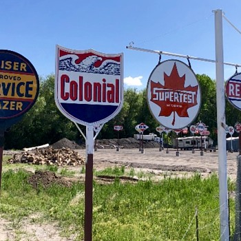 Colonial Gasoline - Signs