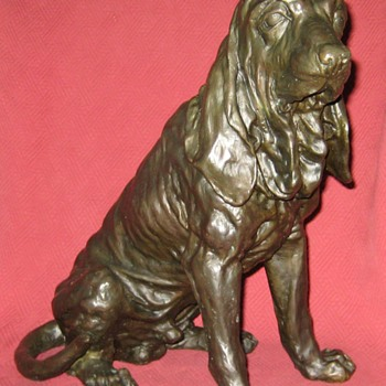 Bronze Bloodhound Sculpture - Animals