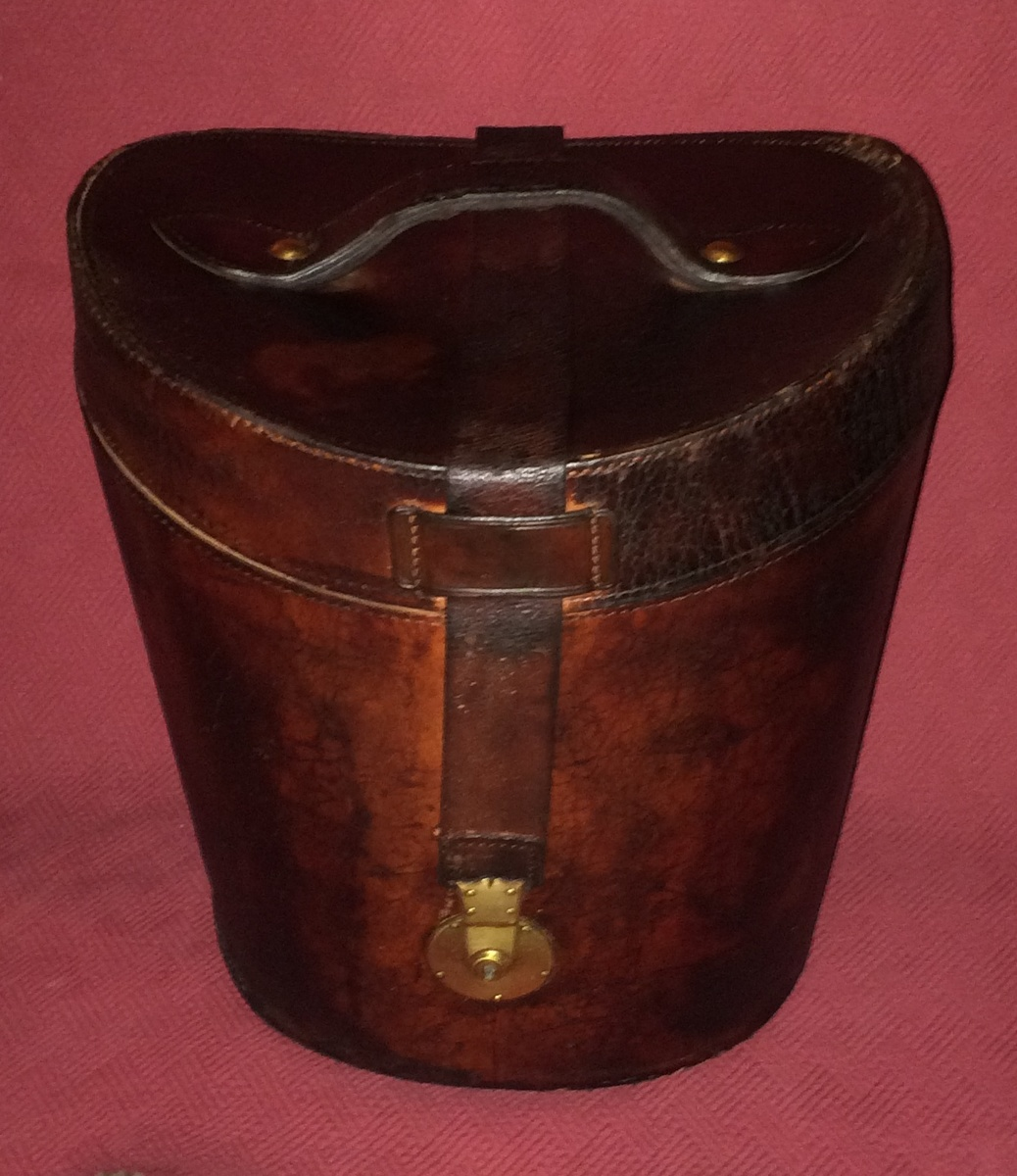Austin Reed Double Top Hat Case With Austin Reed Grey Wool Felt Top Hat Collectors Weekly