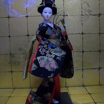 Geisha in Black Kimono - Dolls
