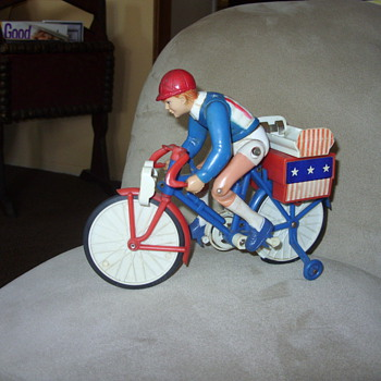 vintage battery operated bicycle racer