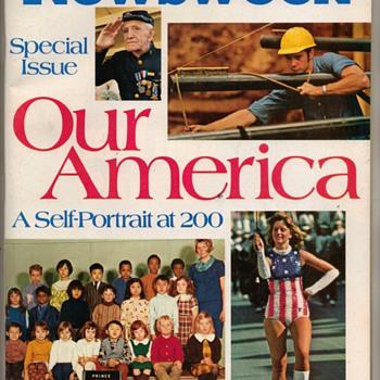 "1976 - NEWSWEEK Magazine ""Bicentennial"" Issue - Paper"