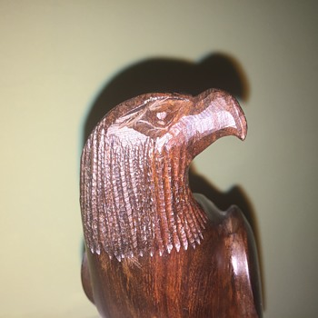 Carved wooden eagle - Fine Art