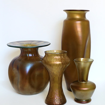Loetz 'Bronce' Vase Group - Various PN's - Art Glass