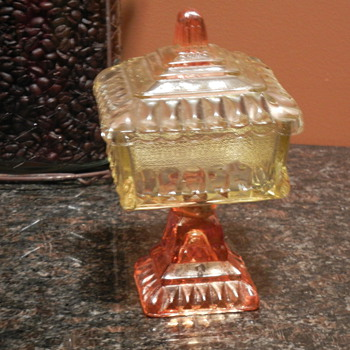 Bi color covered candy dish? - Glassware