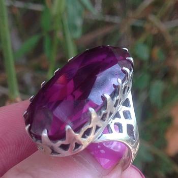 Silver Art Deco Large Stone Pendant - Fine Jewelry