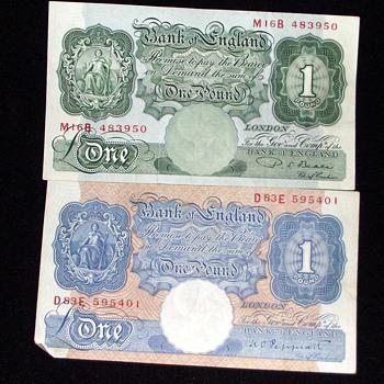 old british banknotes-1940s and world war 2.