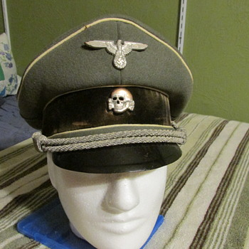 WWII German Waffen SS Infantry Officers Cap - Military and Wartime