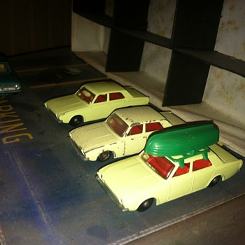 Matchbox Corsairs.  It was hard to keep the boat on top.